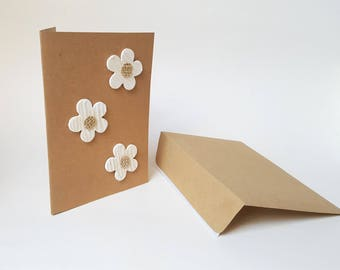 """The """"Little flowers"""" card with its wooden envelope"""
