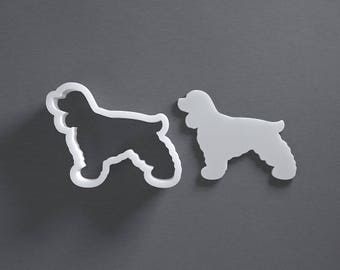 Cocker Spaniel cookie cutter, dog cookie cutter, Cockerspaniel, dog breeds