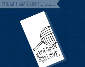 Printable PDF Tags or Labels - Yarn Spun with Love