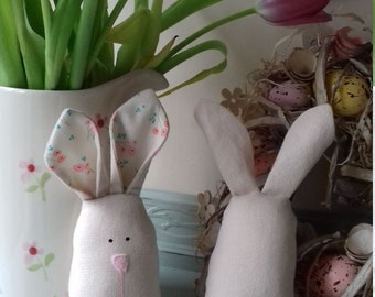 Hoppy Bunny soft toy rabbit, Easter decoration, soft toy bunny, plushie bunny, child's toy or decorative piece, country style, cottage style