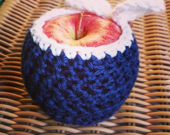 Navy & White Apple Cozy