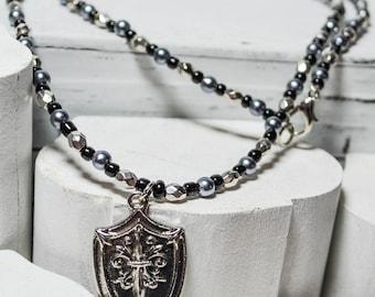 Sword in Shield Necklace