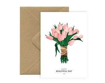 Card A6 - BEAUTIFUL TULIPS