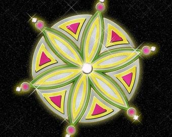 A digital illusion Mandala