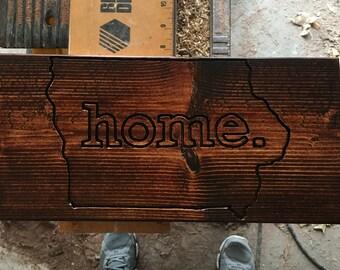 Iowa Home Sign