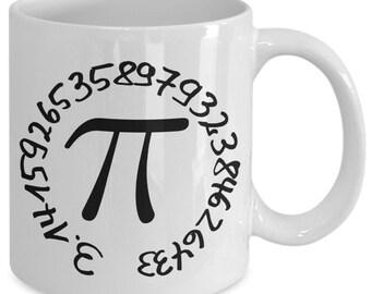 Pi mug - math themed gifts - mathematical formulas