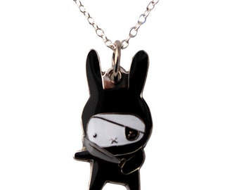 Ninja Bunny Necklace