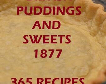 BRITISH PUDDINGS & SWEETS 1877