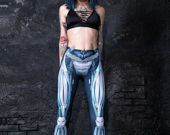 Robot Leggings, Robot Costume, Machine Leggings, Superhero Leggings, Steampunk Leggings, Armor Leggings, Alien Costume, Superhero Costume