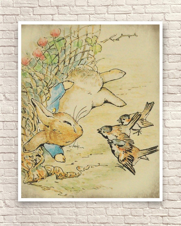 Beatrix Potter Print Beatrix Potter Wall Art Beatrix Potter