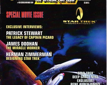 Vintage Star Trek The Official Fan Club Magazine 99 October 1994 - Special Movie Issue - Patrick Stewart - James Doohan - Herman Zimmerman