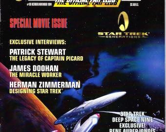 Vintage Star Trek The Official Fan Club Magazine 99 October 1994 - Special Movie Issue - Patrick Stewart - James Doohan - Herman Zimmerman