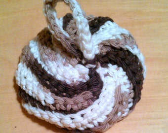 Crochet kitchen dish scrubby soap pad 100% cotton