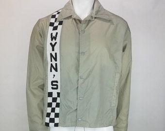 VINTAGE NOS 70s Wynn's Swingster Jacket Mens Medium Racing Windbreaker New with tags