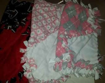 Fleece knotted Baby Blankets