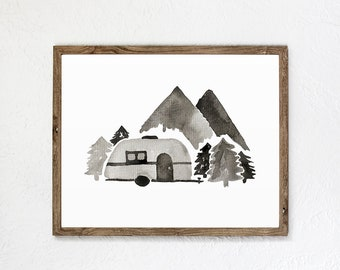 Wilderness Adventure Watercolor Art Print