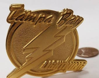 Vintage Tampa Bay Lightning Gold Nhl 1994 1995 Season Ticket Holder Pin Usa Made L584