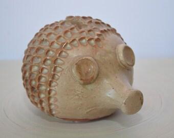 Vintage Studio Pottery Hedgehog Mid Century Modern Pottery Bank