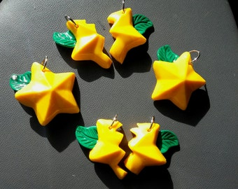 Kingdom hearts paopu fruit necklace or keychain- whole or two halves!