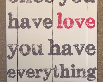 Once You Have Love Canvas Wall Decor