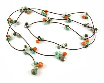 Multi Gemstone Lariat