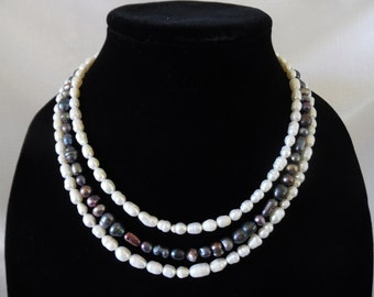 Triple-Strand Freshwater Pearl Necklace