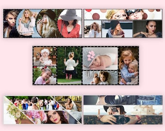 Facebook Cover Template, Facebook Template Photoshop, Facebook Cover Photo Collage Template - Instant Digital download