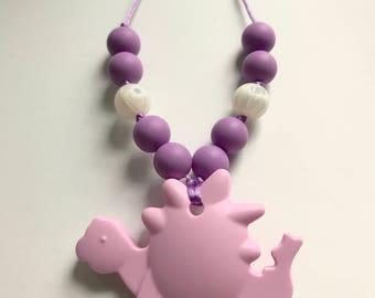 Chompy Dino Pendant-Small Lavender
