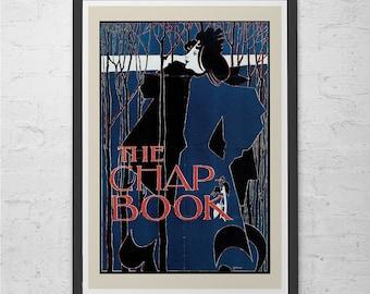 Blue CHAP BOOK POSTER Art Nouveau Poster Print Fine Art Belle Epoque High Quality Reproduction