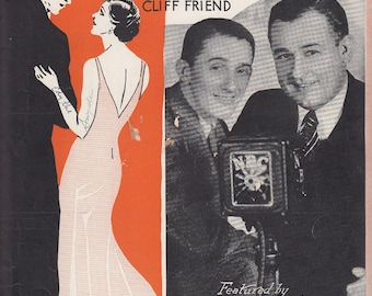 Just Because You're You 1932 Vintage Sheet Music Gene Carroll Glenn Rowell Cliff Friend