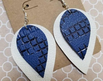 Checkered Blue and Black with White