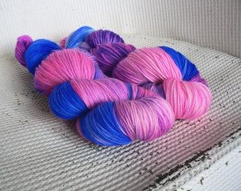 A Whole New World - Luxury Hand Dyed Sock Yarn - Merino Cashmere Nylon
