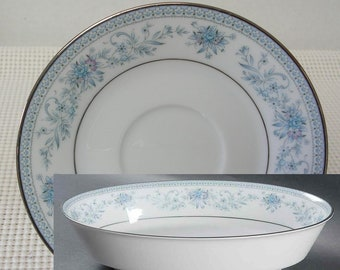 Noritake Blue Hill Plates and Vegetable Bowl