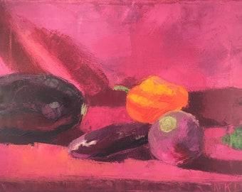 Vegetable Medley--Original Oil Painting
