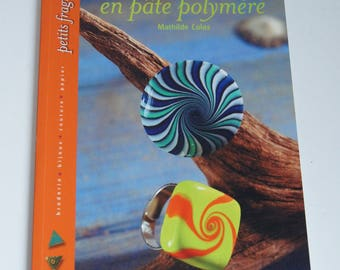 Books rings made of polymer clay - Mathilde Colas