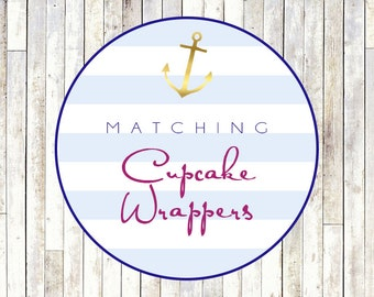Matching Cupcake Wrappers - Printable DIY