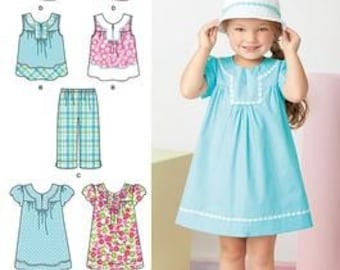 SUMMER CLOTHES PATTERNS For LIttle Girls / Dress - Top - Pants - Hat / Size 3 To 8