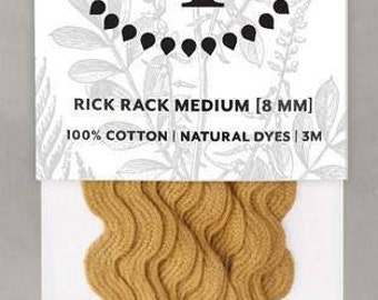 Naturally Dyed 8mm Rick Rack-Ochre