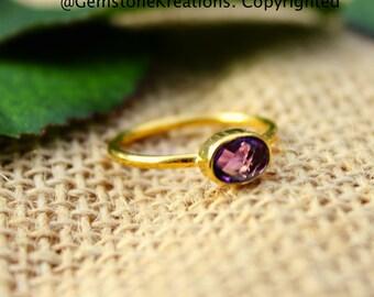 Amethyst Rings, Stackable Rings, Knuckle Rings. Gold Stacker Rings, Midi Rings