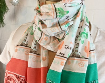 Vintage & Recycled Bandana Scarf - One-Of Kind - Made In USA
