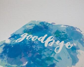 Watercolour Goodbye Card