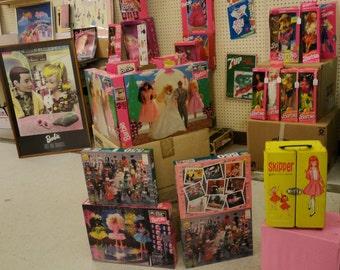 VINTAGE BARBIE MYSTERY Box Collection|Vintage Barbie Toys and Games|Barbie Comic Books|Vintage Barbie Puzzles|Barbie Dolls