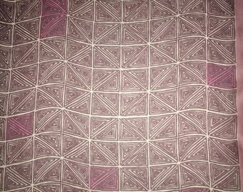 Vera Neumann plum geometric scarf sheer