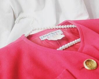 Vintage 80's Saint Laurent Jacket with Gold Statement Buttons