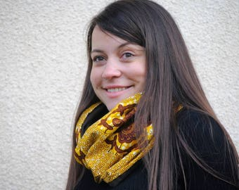 African scarf, Infinity scarf, Tribal scarf, Infinity neck warmer, Ankara scarf, Infinity women scarf, African accessory, Winter scarf