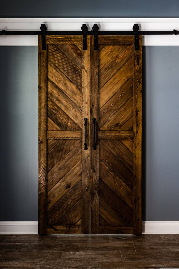 Cypress Chevron Barn Doors