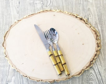 Wood Charger Plate Wood Slab Cake Stand Modern Farm House Live Edge Table Wood Cake Stand Gift For Her Housewarming Gift Wedding Platter