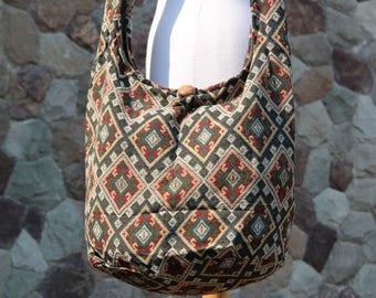 Woven Boho Crossbody Bag  Crossbody Purse   Hippie bag   Hobo bag   Beach bag   Shoulder bag  Boho  Sling bag   Gypsy Vegan bag