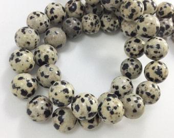3 Full strands 10mm dalmation jasper round  beads wholesale for exclusive jewelry
