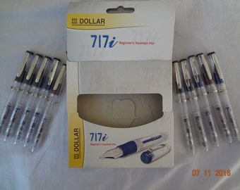 10x dollar 717i demonstrator transparent fountain pen free shipping